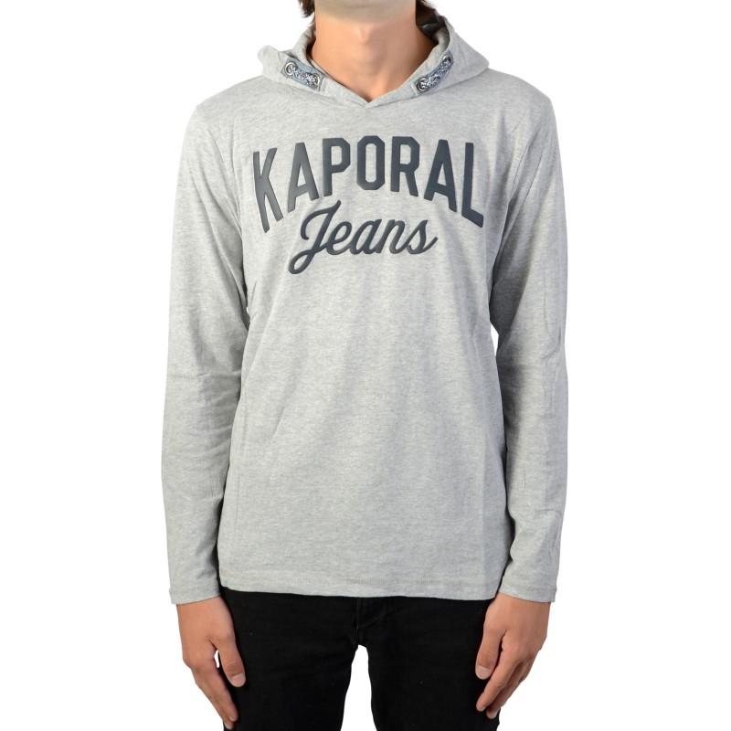 3a70d443e48fc Tee-Shirt Manche Longue A Capuche Kaporal Mikal - Galerie-Chic