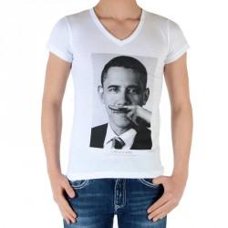 Tee Shirt Little Eleven Paris Garçon Little BO Barack Obama TS Blanc