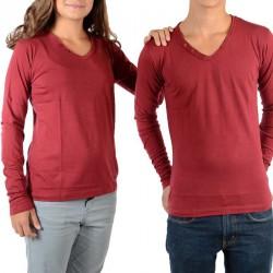 Tee Shirt Little Eleven Paris Basic V LS Mixte (Garçon / Fille) Rouge