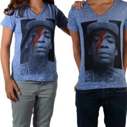 Tee Shirt Little Eleven Paris Wizka SS Wiz Khalifa Mixte (Garçon / Fille) Bleu Graza