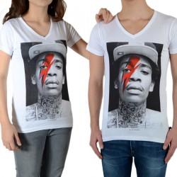 Tee Shirt Little Eleven Paris Wiz Bowie SS Mixte (garçon / fille) Wiz Khalifa Blanc