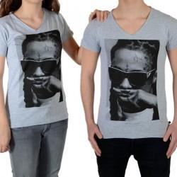 Tee Shirt Little Eleven Paris Lil SS Mixte (Garçon / Fille) Lil Wayne Gris