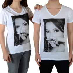 Tee Shirt Little Eleven Paris Eva SS Mixte (garçon / fille) Eva Longoria Blanc