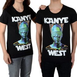 Tee Shirt Little Eleven Paris Kanye SS Mixte (Garçon / Fille) Noir