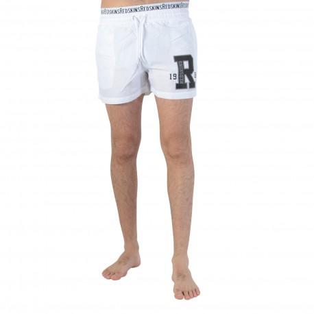 Short De Bain REDSKINS RED 01 Blanc