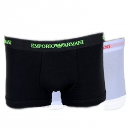Pack de 2 Boxers Emporio Armani Noir / Blanc