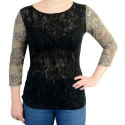 Tee Shirt Desigual Sleeve Negro