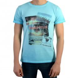 Tee Shirt Pepe Jeans Enfant Jerome JR Turquoise