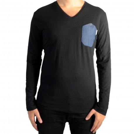 Tee Shirt Kaporal Vizu Black