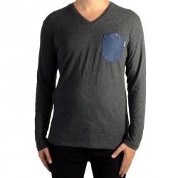 Tee Shirt Kaporal Vizu Dark Grey Melanged